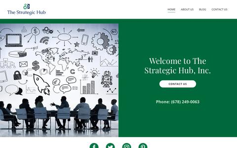 Screenshot of Home Page thestrategichub.com - The Strategic Hub - Home - captured Oct. 20, 2018