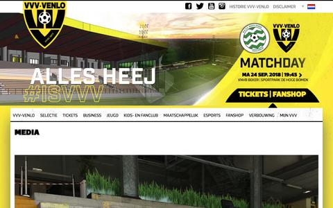 Screenshot of Press Page vvv-venlo.nl - Media - VVV-Venlo - captured Sept. 24, 2018