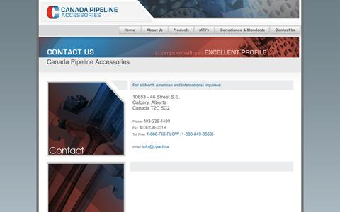Screenshot of Contact Page cpacl.com - Contact Us - captured Oct. 1, 2014