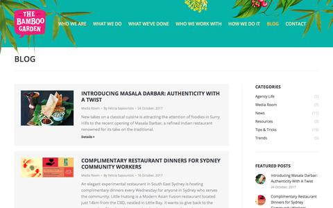 Screenshot of Blog thebamboogarden.com.au - Blog – The Bamboo Garden - captured Nov. 9, 2017