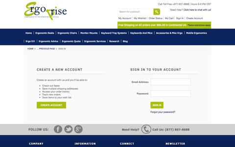 Screenshot of Login Page mybigcommerce.com - Ergoprise Ergonomic Store - Sign in - captured Sept. 18, 2014
