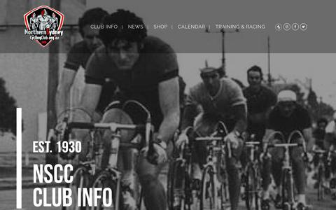 Screenshot of About Page northernsydneycyclingclub.org.au - Northern Sydney Cycling Club |   CLUB INFO - captured Oct. 21, 2018