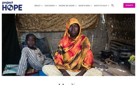Screenshot of Press Page projecthope.org - Media Room | Project HOPE - captured Nov. 5, 2018