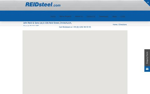 Screenshot of Maps & Directions Page reidsteel.com - Directions - Reidsteel Structural Engineering - captured Aug. 13, 2016