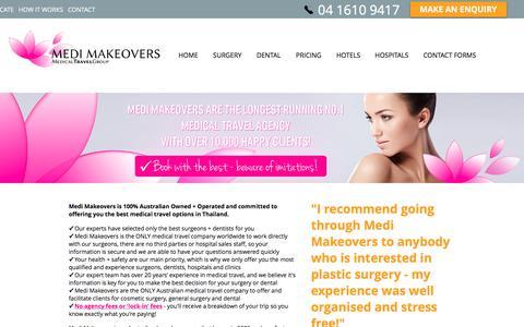 Screenshot of About Page medimakeovers.com - Medi Makeovers | Safe & Affordable Medical Travel | ABOUT - captured June 10, 2017