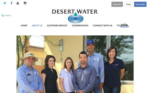 Screenshot of Jobs Page dwa.org - Careers - Desert Water Agency - captured Oct. 22, 2018