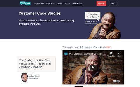 Screenshot of Case Studies Page purechat.com - Pure Chat | Live Chat Customer Case Studies - captured Nov. 3, 2019
