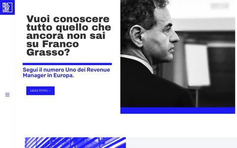 Screenshot of Home Page francograsso.com - Franco Grasso – Il numero 1 dei Revenue Manager in Europa - captured Oct. 11, 2018