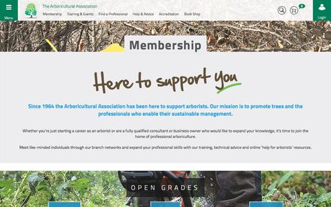 Screenshot of Signup Page trees.org.uk - Arboricultural Association - Membership Information - captured Oct. 21, 2017