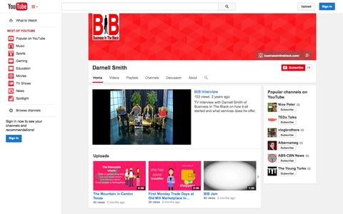 Screenshot of YouTube Page youtube.com - Darnell Smith  - YouTube - captured Oct. 23, 2014