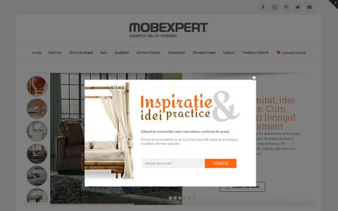 Screenshot of Blog mobexpert.ro - Mobexpert Blog | Comunitatea celor care iubesc confortul de acasa. - captured July 13, 2018