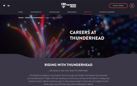 Screenshot of Jobs Page thunderhead.com - Careers at Thunderhead - Thunderhead - captured Oct. 9, 2019