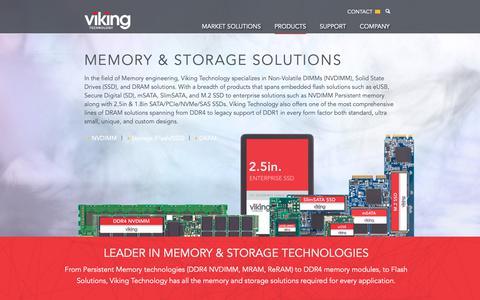 Screenshot of Products Page vikingtechnology.com - Products Overview – Viking Technology - captured Feb. 9, 2019