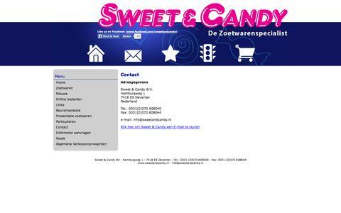 Screenshot of Contact Page sweetandcandy.nl - Sweet & Candy, Zoetwarengroothandel - Contact - captured Oct. 6, 2014