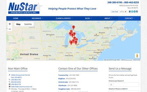 Screenshot of Contact Page nustarinsurance.net - Contact NuStar Insurance Agency - captured Oct. 19, 2018