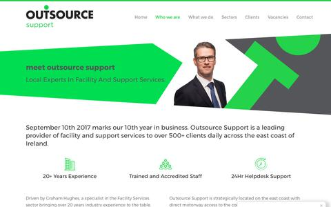 Screenshot of About Page outsourcesupport.ie - Who we are | meet Outsource Support - captured Oct. 22, 2017