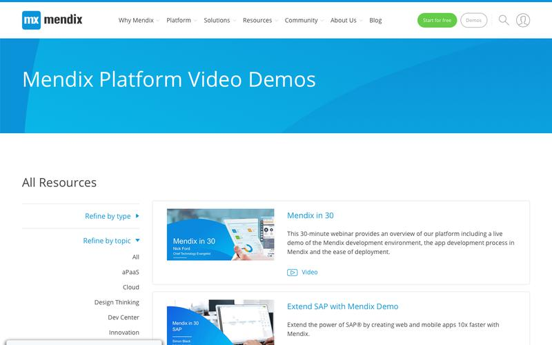 Enterprise Application Development Resources   Mendix