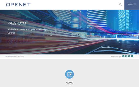 Screenshot of Press Page openet.com - Press Room | About Us | Openet - captured Aug. 9, 2019