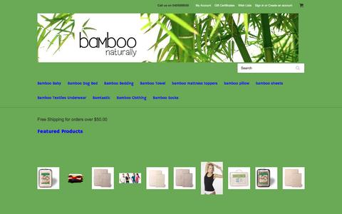 Screenshot of Home Page bamboonaturally.com.au - Bamboo Naturally - captured May 31, 2017