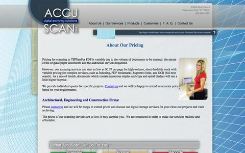 Screenshot of Pricing Page accuscan.info - Welcome to AccuScan.info-Pricing for scanning - captured Jan. 11, 2017