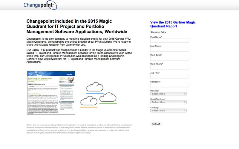 Gartner IT PPM Software Applications Magic Quadrant | Changepoint.com