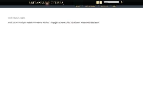 Screenshot of About Page Privacy Page Site Map Page Terms Page britanniapictures.com - Coming Soon | Britannia Pictures - captured June 3, 2017