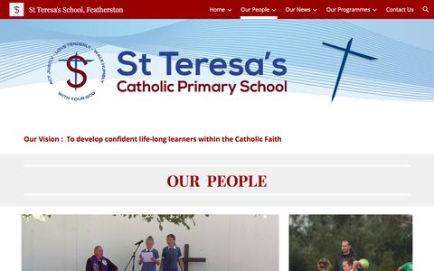Screenshot of Team Page google.com - St Teresa's School, Featherston - Our People - captured March 6, 2018