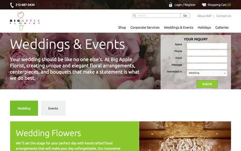 Wedding Floral Arrangements | Big Apple Florist