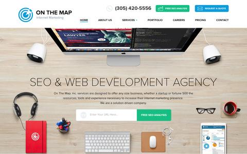 Screenshot of Site Map Page onthemapmarketing.com - Nav Map - captured Sept. 6, 2016