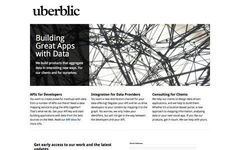 Screenshot of Home Page uberblic.com - uberblic - captured Oct. 4, 2014