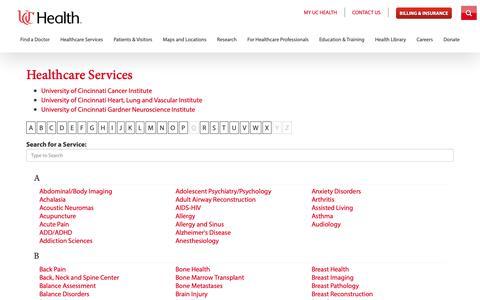 Uchealth Services