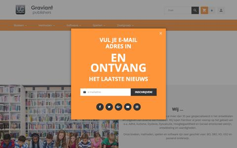 Screenshot of About Page graviant.nl - Over Graviant - captured Sept. 30, 2018