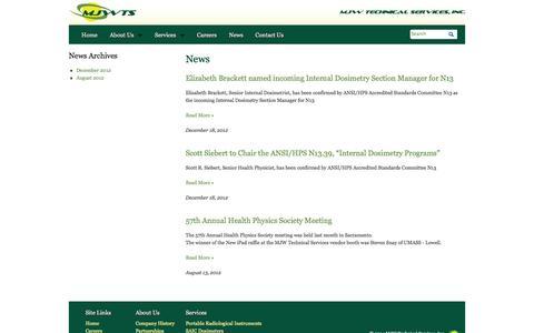 Screenshot of Press Page mjwts.com - News | MJW Technical Services, Inc. - captured Oct. 3, 2014