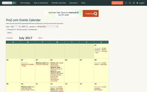 ProZ.com events calendar
