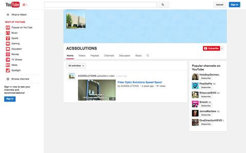 Screenshot of YouTube Page youtube.com - ACSSOLUTIONS  - YouTube - captured Oct. 23, 2014