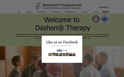 Screenshot of Home Page acupressuresite.com - Dashen Foundation - captured Nov. 23, 2016