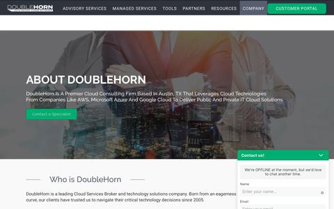 Screenshot of About Page doublehorn.com - Company - About DoubleHorn Cloud Brokerage | DoubleHorn - captured Oct. 9, 2018