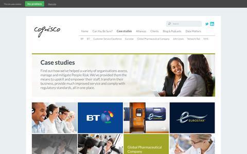 Screenshot of Case Studies Page cognisco.com - People Risk Assessments | Case Studies | Cognisco - captured Sept. 28, 2018