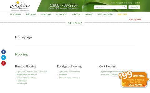 Screenshot of Site Map Page calibamboo.com - Sitemap - CaliBamboo GreenShoots - captured Nov. 18, 2015