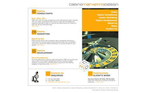 Screenshot of Home Page casinomarketingdesign.co.uk - Casino Marketing Design - captured Sept. 26, 2014
