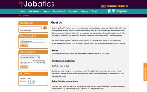 Screenshot of About Page jobatics.com - About Us - captured Sept. 30, 2014