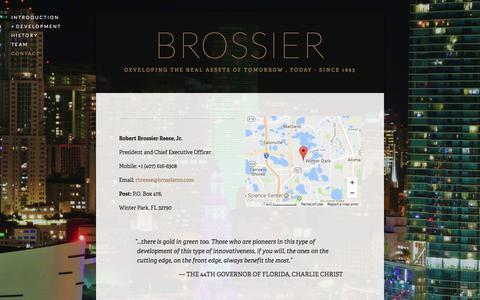 Screenshot of Contact Page brossierco.com - CONTACT — BROSSIER - captured Oct. 11, 2017