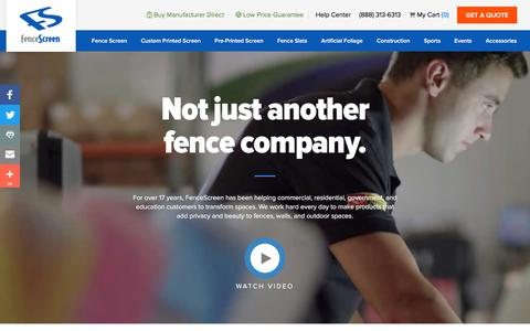Screenshot of About Page fencescreen.com - About FenceScreen - captured Aug. 12, 2018