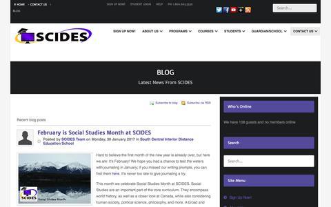 Screenshot of Blog scides.com - Recent blog posts - captured Jan. 31, 2017