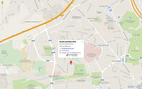 Screenshot of Maps & Directions Page dejancleaning.be captured Oct. 6, 2014
