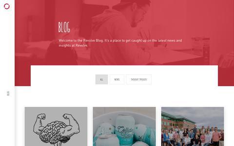 Screenshot of Blog revolve.ca - Blog   Revolve Branding & Marketing   Halifax, NS, Canada - captured July 13, 2018