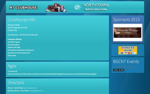 Screenshot of Contact Page Locations Page bgcnt.net - Locations » Northtowns Boys & Girls Clubs | Buffalo , Tonawanda, North Tonawanda and Western New York - captured Oct. 23, 2014