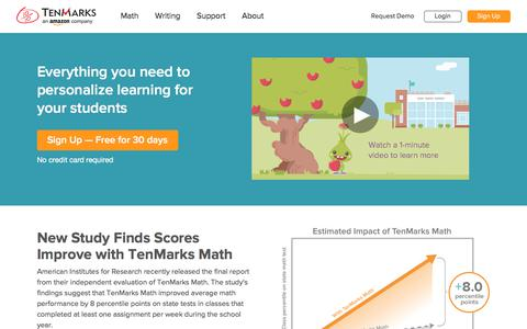 TenMarks | Common Core Aligned Resources for Teachers