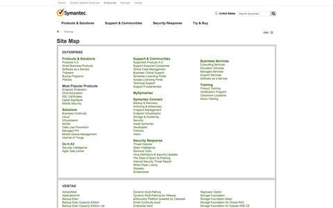 Site Map | Symantec
