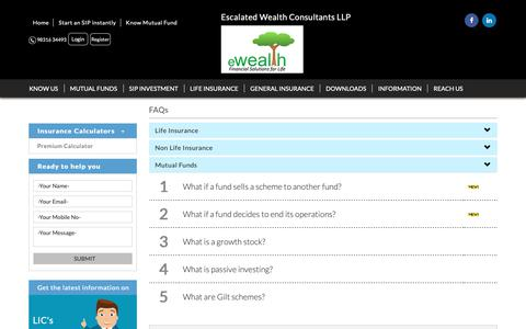 Screenshot of FAQ Page ewealth.co.in - www.ewealth.co.in - captured Sept. 29, 2018